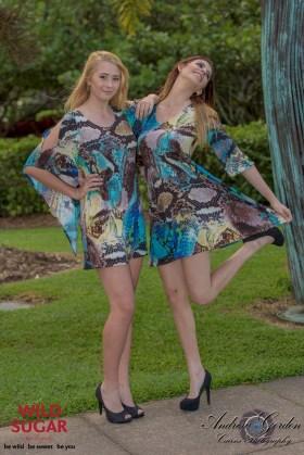 Lily Dress + Gwenevere Dress   Sapphire Dragon