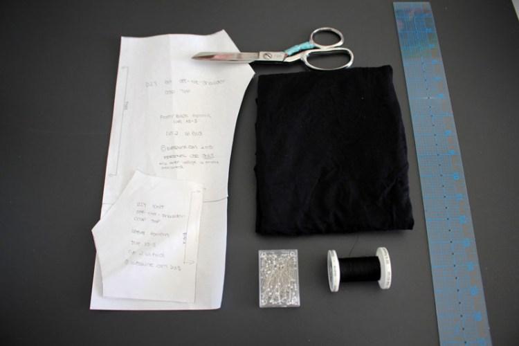 DIY Knit Off the Shoulder Top