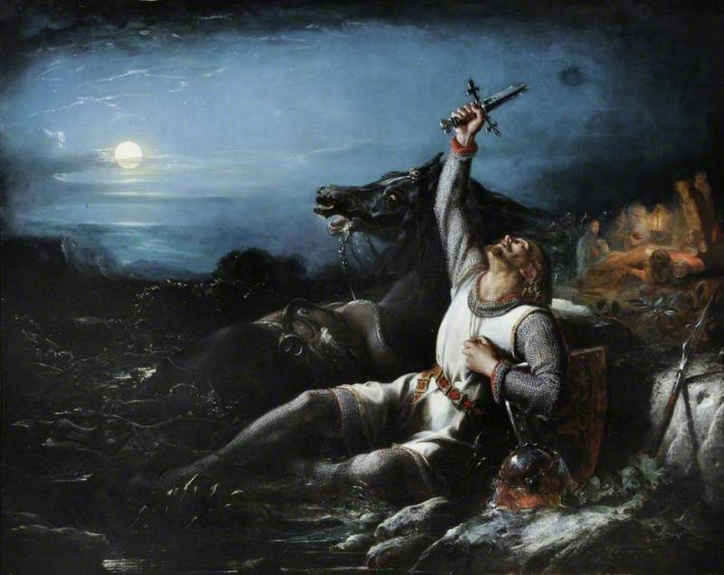 The Faithful Knight by Thomas Jones Barker (1815 - 1882)
