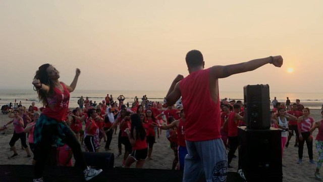 Dancing through Bali sunset