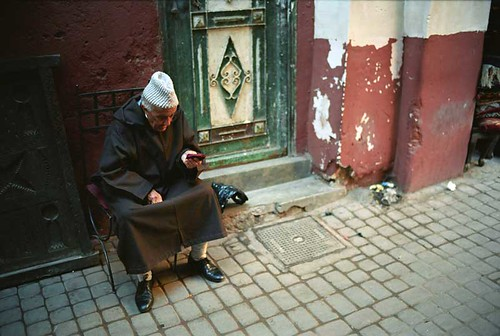 A Marrakech Man sat at the side of the road