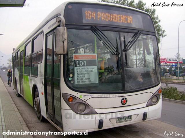 Transantiago - Inversiones Alsacia - Marcopolo Gran Viale / Volvo (ZN5962)