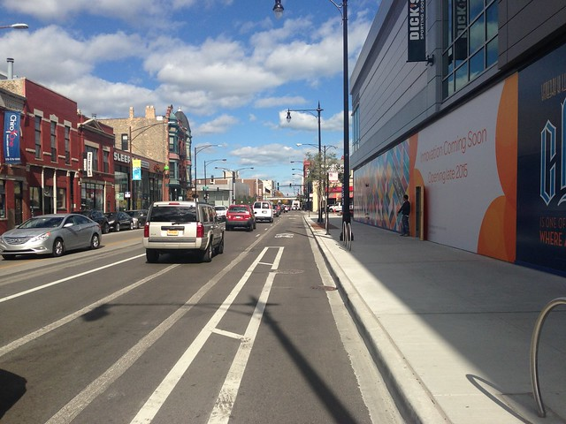 New buffered bike lane on Halsted just ends
