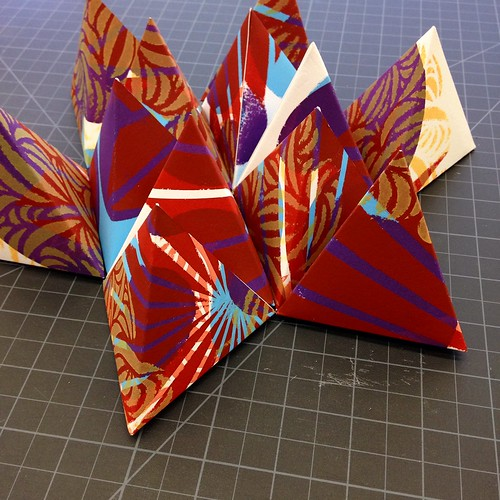 Screen printed paper sculptures