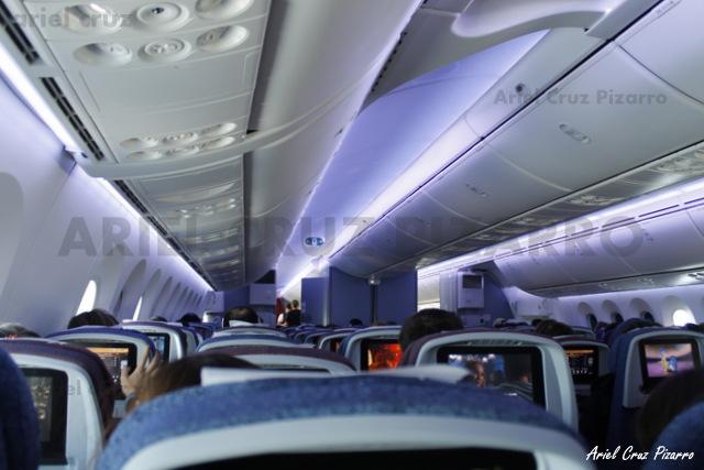 Interior Boeing 787-8 Dreamliner de LAN