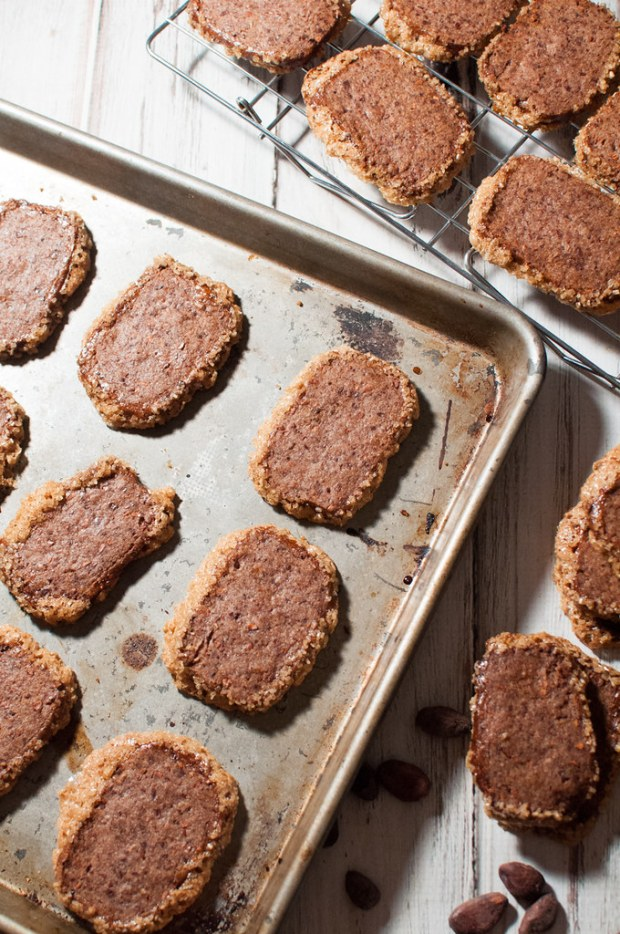 Cinnamon Cocoa Nib Butter Cookies are like delicious drinking chocolate in cookie form.