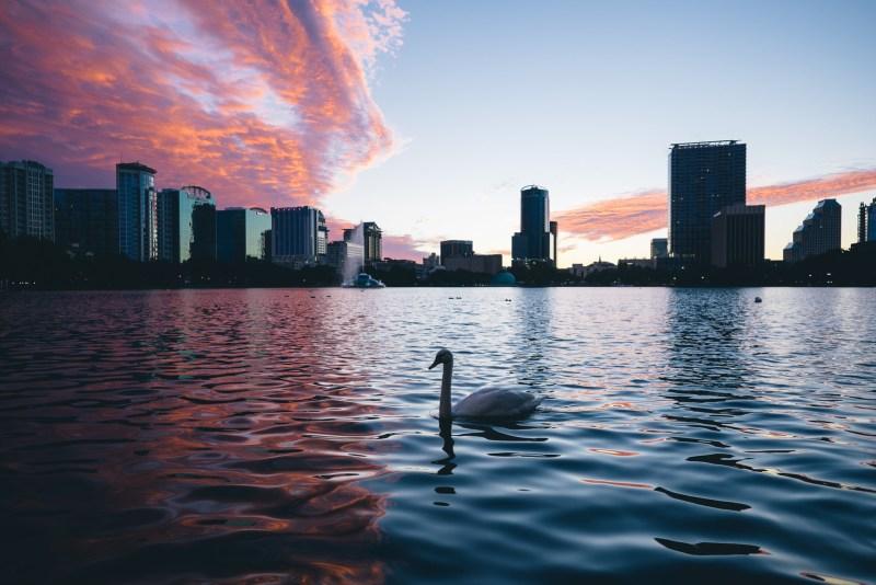 Cloud blanket closing on Orlando