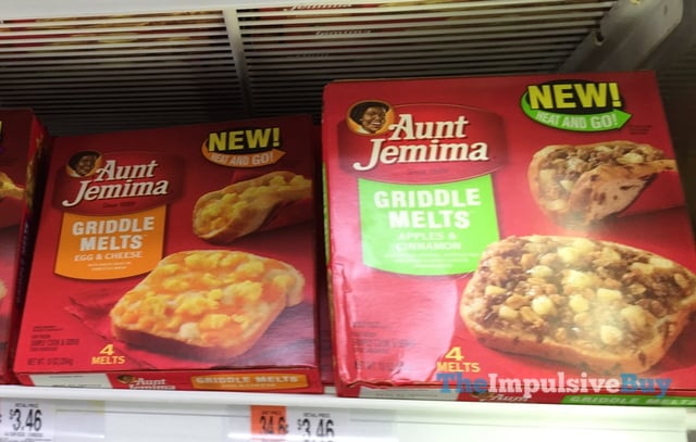 Aunt Jemima Griddle Melts (Egg & Cheese and Apples & Cinnamon)