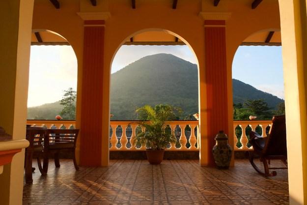 Balcony of Cilu Bintang Estate. Bandaneira, Banda Islands