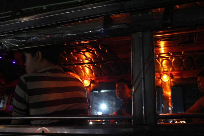 jeepney at night