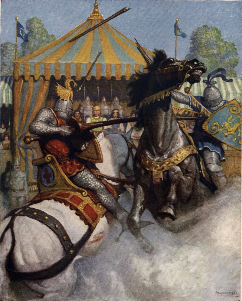 Illustration from Boys King Arthur by NC Wyeth