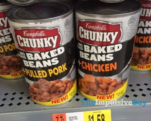 Campbell's Chunky BBQ Flavored Baked Beans with Pulled Pork and BBQ Flavored Baked Beans with Chicken