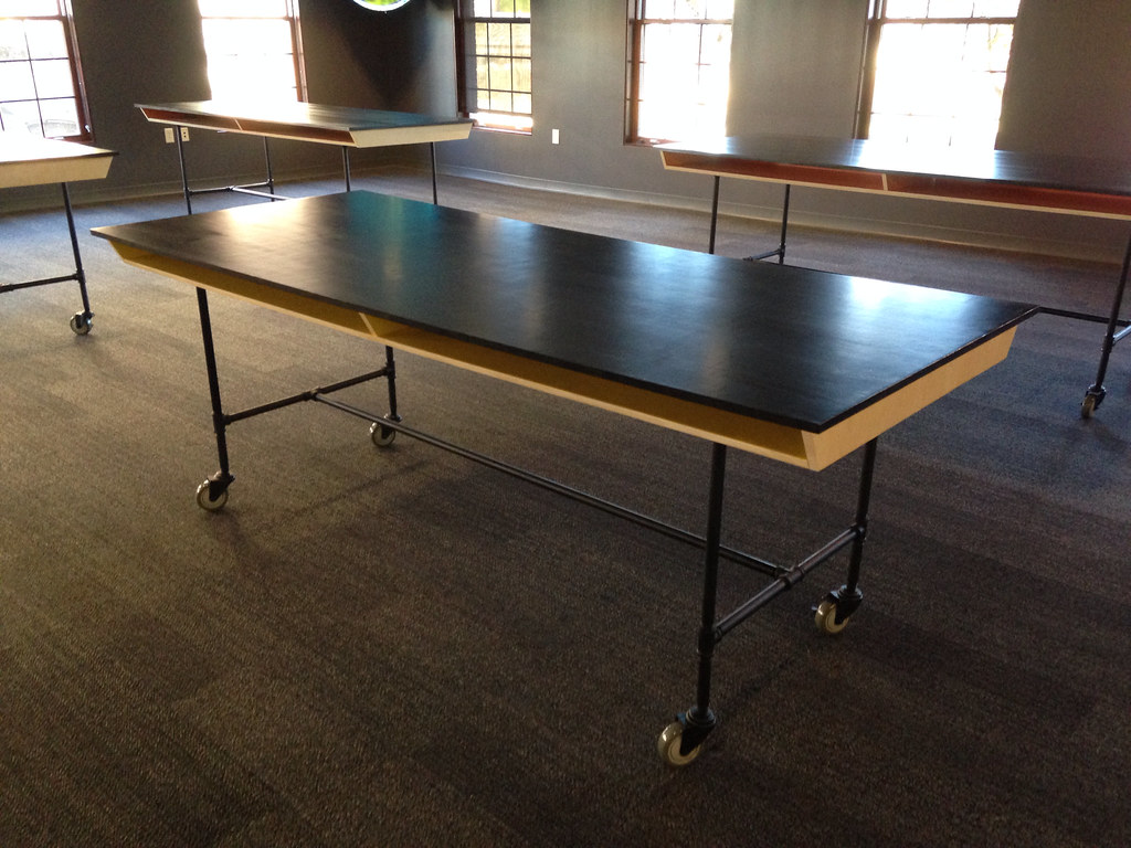 Industrial Work Table 25x40 Team Build Modern Industrial Work Tables For Our Actual