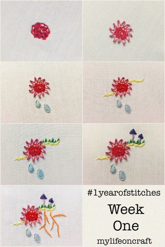 1 Year of Stitches Week One