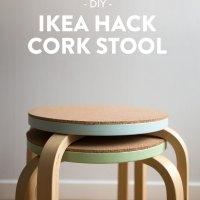 DIY - Pall med kork, IKEA hack