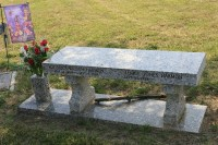 Bench as a Headstone | Flickr - Photo Sharing!