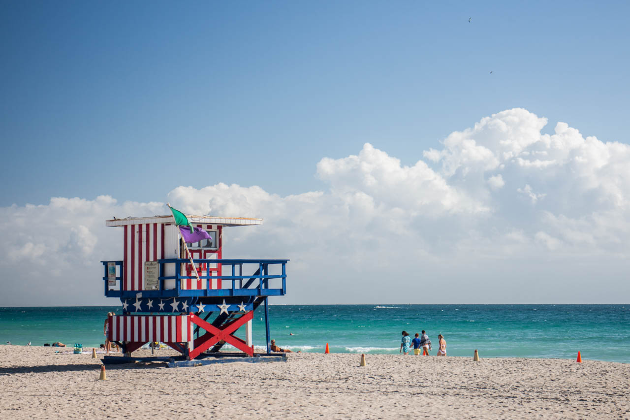 South Beach cuenta con pintorescos y coloridos puestos de salvavidas a lo largo de sus más de 23 cuadras de extensión. (Tetsu Espósito)