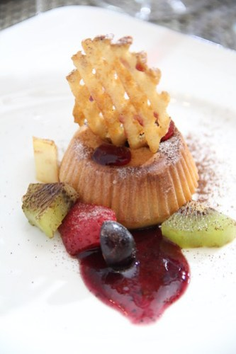 blueberry_filled_pound_cup_cake_top_with_crunchy_maple_basket_weave_potato