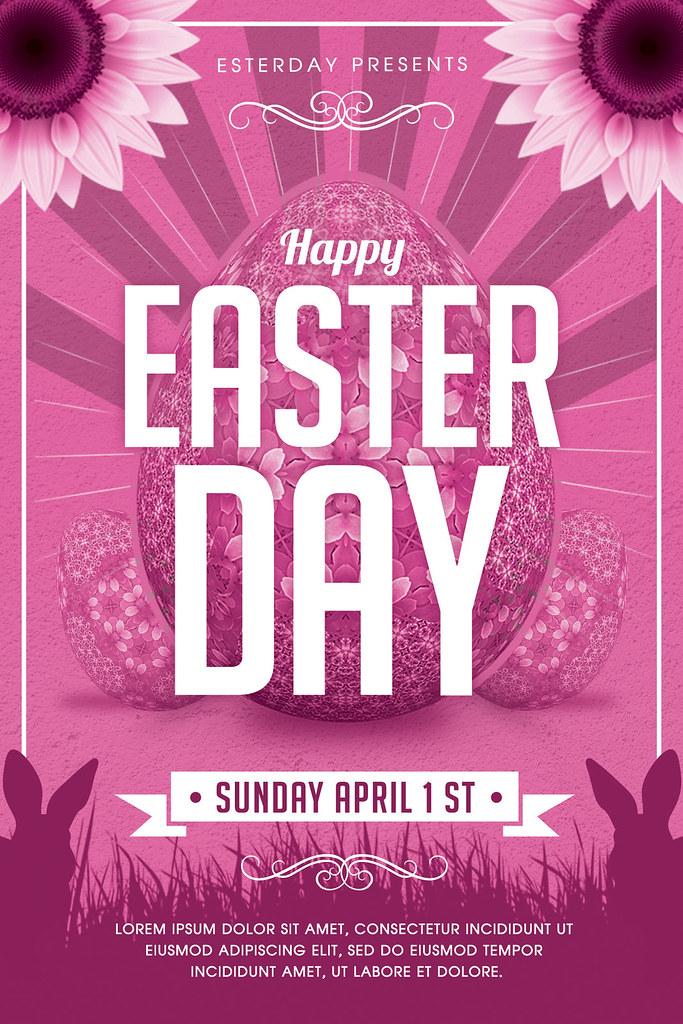 Easter Flyer Template 1 Photoshop file CMYK Colors 300 DPI\u2026 Flickr