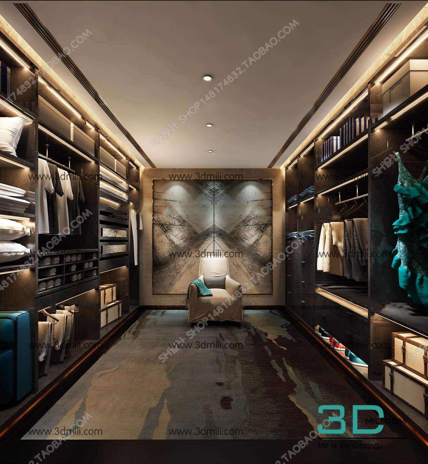 Model De Dressing 17 Sell Album Dressing Room 3d Mili Download 3d Model Free 3d Models 3d Model Download