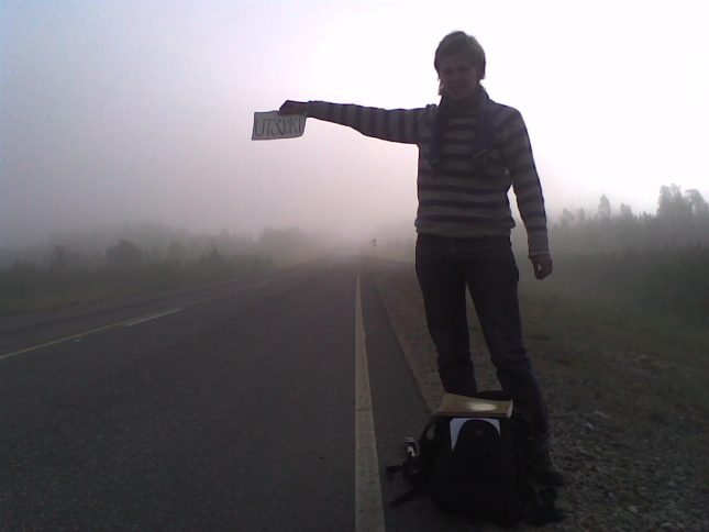 Hitch-hiking in Lapland - by Mika Meskanen