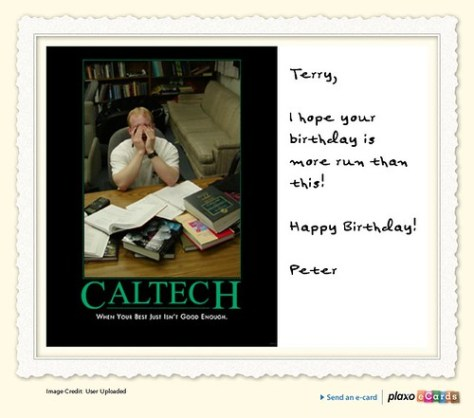 Plaxo Birthday eCard from Peter