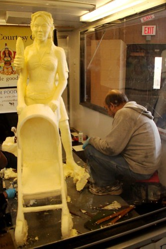 butter sculpture at the fair
