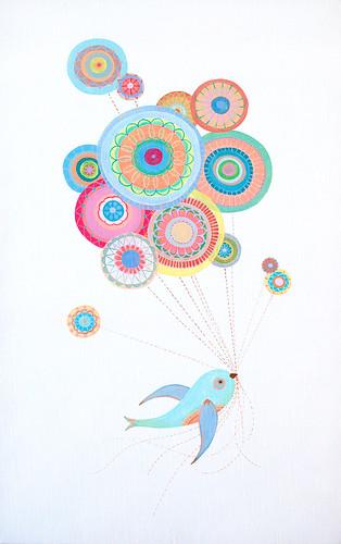 bird & balloons