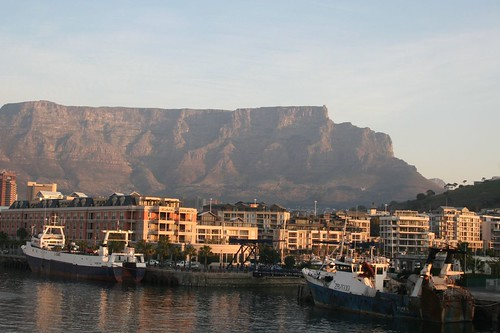 view of Table Mountain from our hotel room