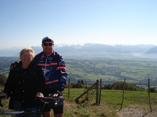 Le Saleve - Mont Blanc in background