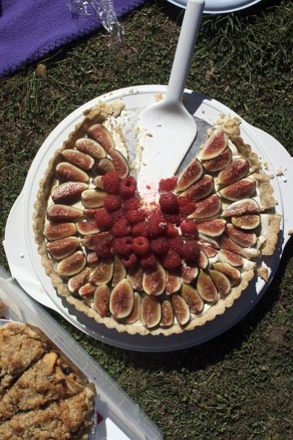 fig tart, gluten-free