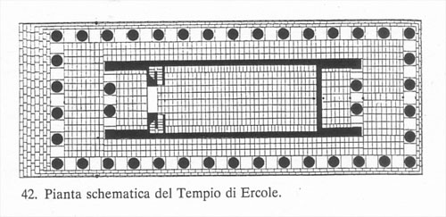 Plan of the Temple of Hercules, Agrigento