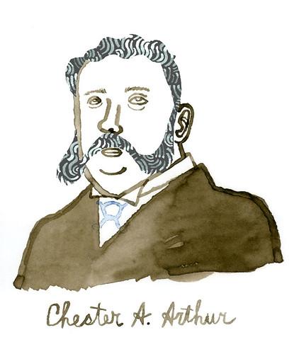 Chester A Arthur sketch 2