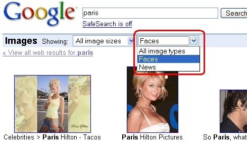 Google Image Typ Recognition