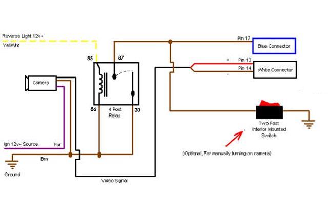 Relay Wiring Backup Camera manual guide wiring diagram