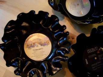 melted vinyl record bowls