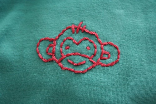 patterned monkey