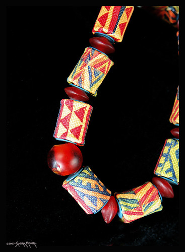 handmade fabric and glass beads from Capetown SA