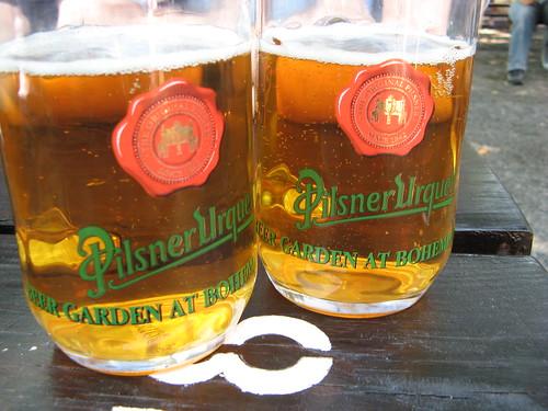 2 pints of Pilsner Urquell