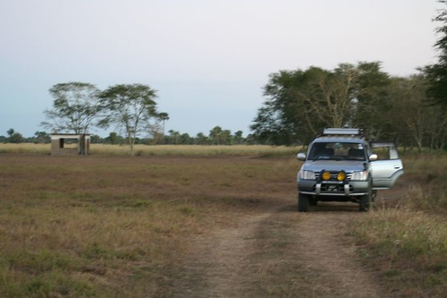how we got around the park, the Lion House, Gorongoza