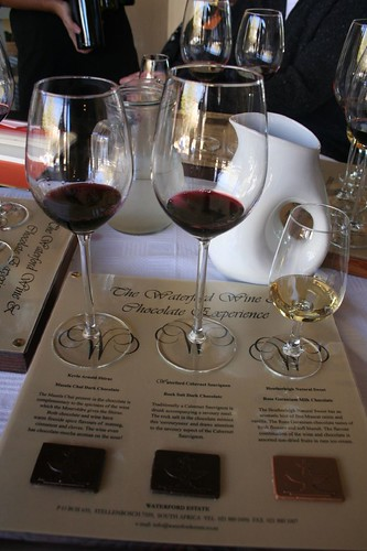 A chocolate and wine tasting, Waterford Winery, South Africa