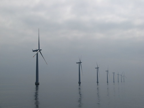 Wind Park in the Haze