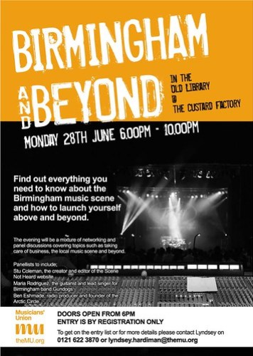Birmingham and Beyond - Old Library @ Custard Factory Monday 28th June 6.00pm – 10.00pm