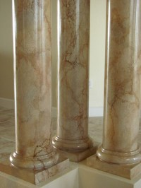 Another Faux Marble on Columns  Art-Faux Wall Designs