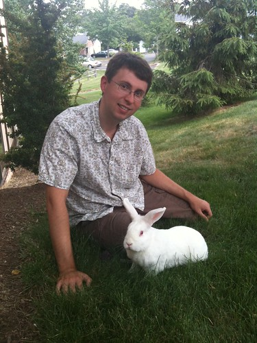 gus and keith - a perfect picture of a bunny and his daddy