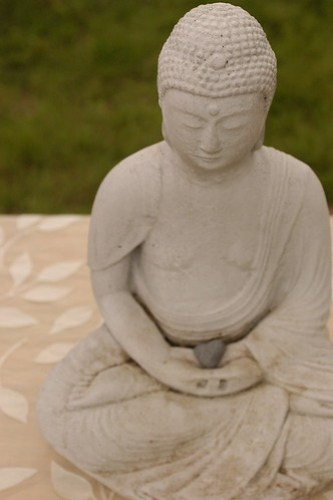 the Buddha and the heart stone