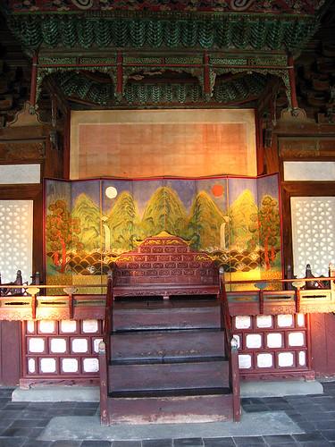 Inside, Myeongjeongjeon Hall