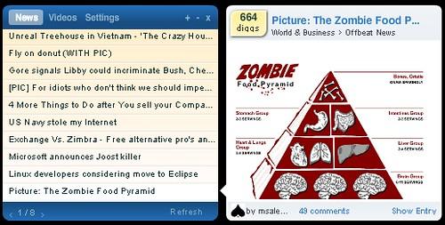 DiggTop: News Screenshot with Image Loaded