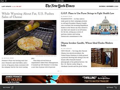 New York Times' ipad app