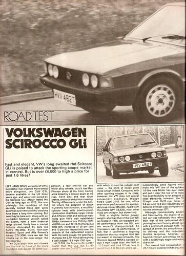 Flickriver Photoset \u0027Volkswagen Scirocco 16 GLi Road Test 1979\u0027 by
